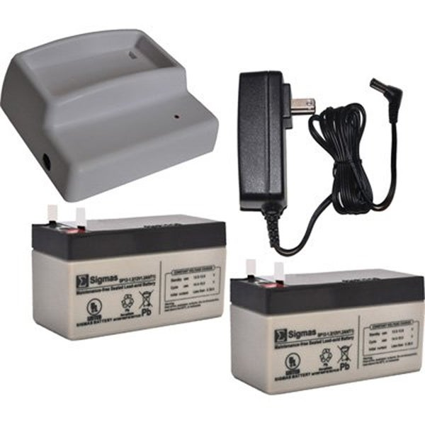 Power Pet Door Grey Plastic/Metal Charger Kit With 2 Rechargeable Batteries