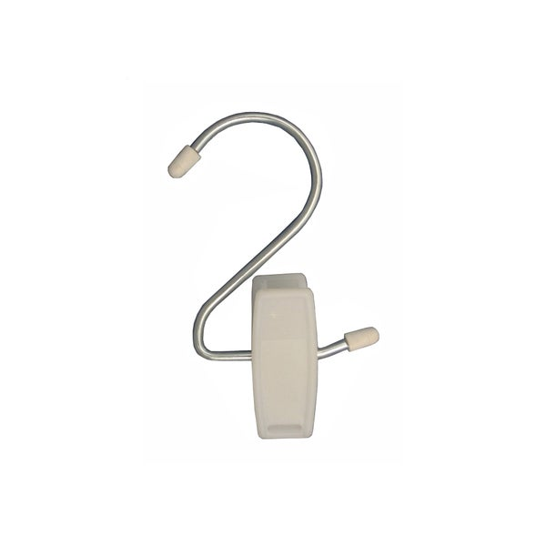 White Plastic Hang-all Clips (Pack of 12)