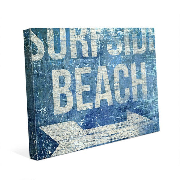 Surfside Beach - Blue Wall Art on Canvas