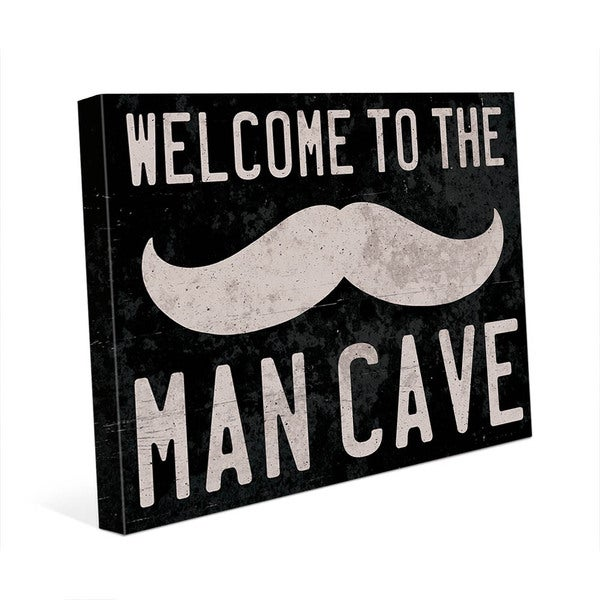 Welcome to the Man Cave Wall Art on Canvas