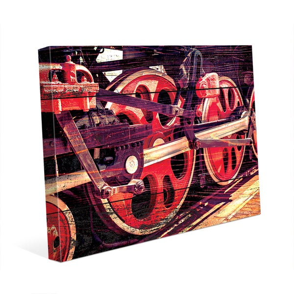 Spinning Down the Tracks Wall Art on Canvas
