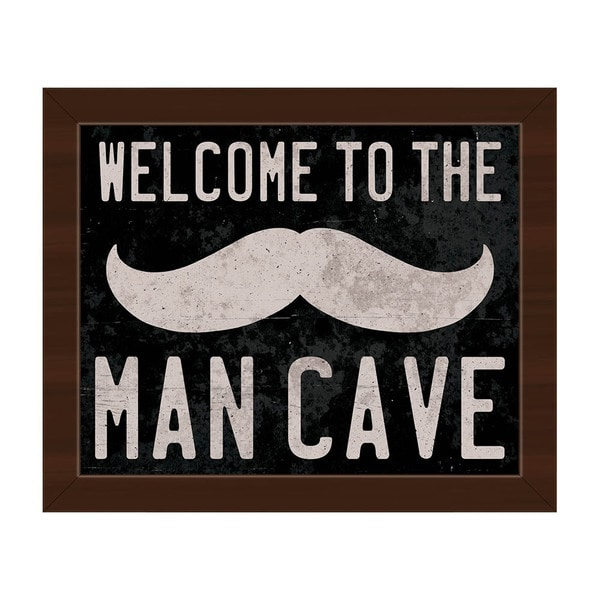 Welcome to the Man Cave Framed Canvas Wall Art