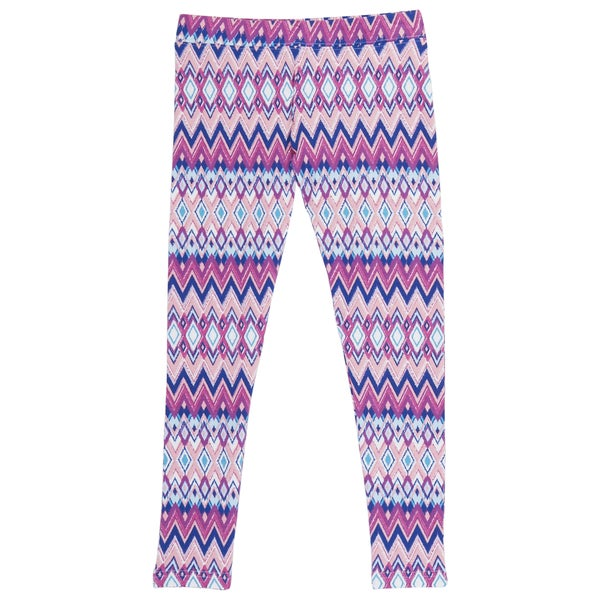 French Toast Girls' Pink Zig-zag Print Leggings