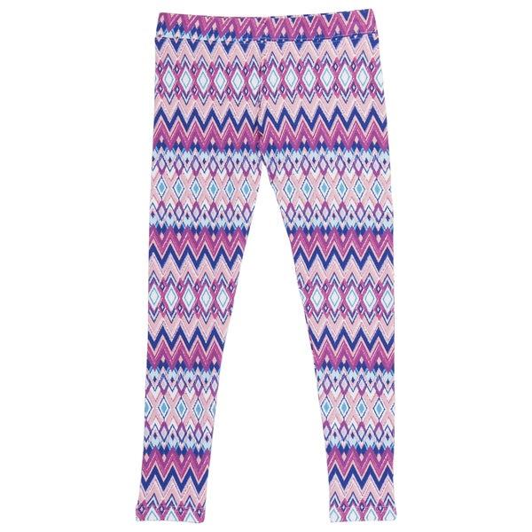 French Toast Girls' Pink Zig-zag Print Leggings