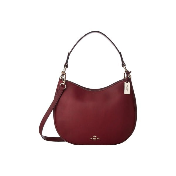 Coach Nomad Burgundy Glove-tanned Leather Shoulder Handbag