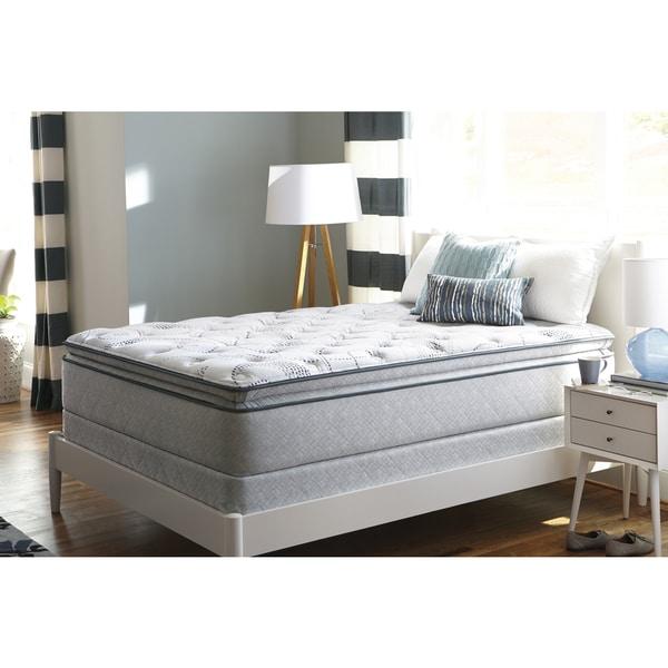 Sealy Sand Cove Plush Euro Pillowtop King-size Mattress Set