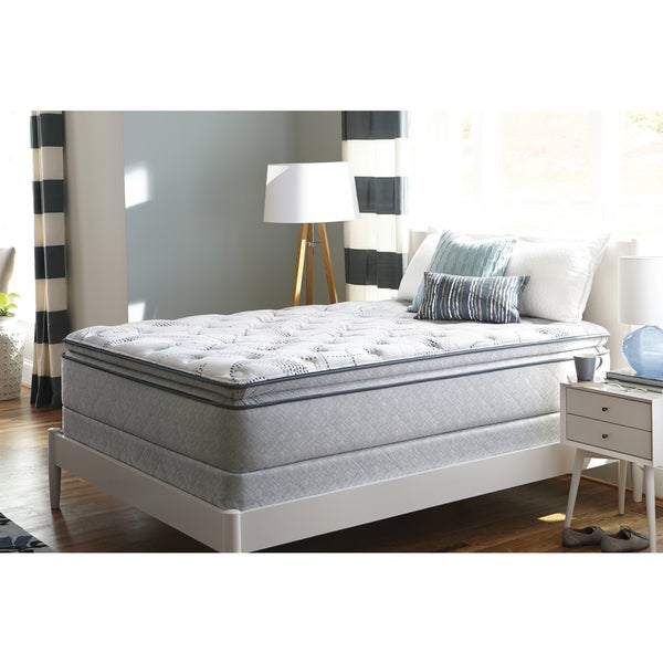 Sealy Sand Cove Plush Euro Pillowtop Twin-size Mattress Set