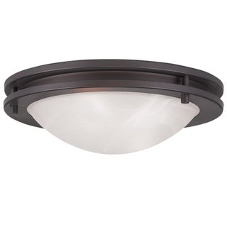 Ariel Glass/Steel Ceiling Mount Light Fixture