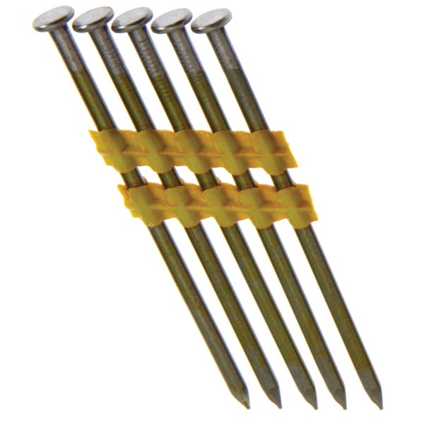 "Grip Rite GR07 2-3/8"" X 0.113"" Vinyl-Coated Steel Bright Smooth Shank Framing Nails 5,000 Per Box"