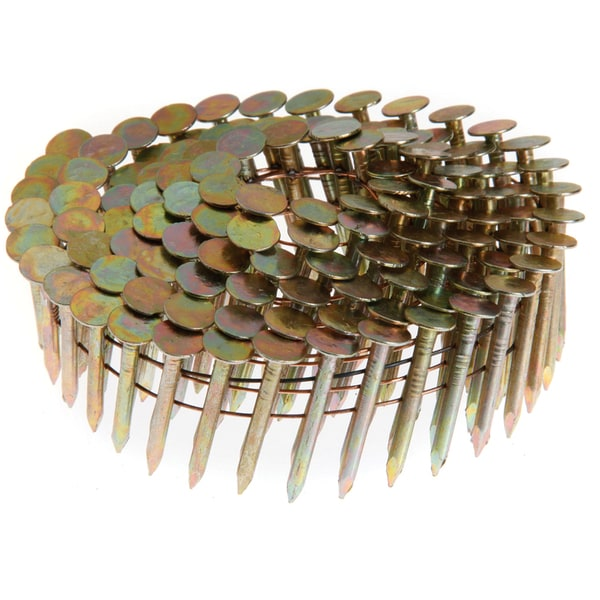 "Grip Rite GRCR4DGAL 1-1/2"" X .120"" Smooth Shank Electro-Galv Coil Roofing Nails 7,200-ct"