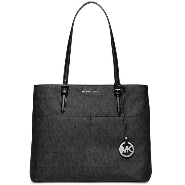 Michael Kors Bedford Black Large Pocket Tote Bag