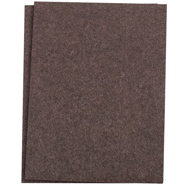 "Waxman Consumer Group 4740095N 4-1/2"" X 6"" Brown Self-Stick Felt Blanket Pads 2-ct"