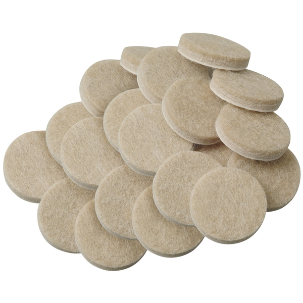 "Waxman Consumer Group 4718595N 3/4"" Oatmeal Round Self-Stick Felt Pads 20-ct"