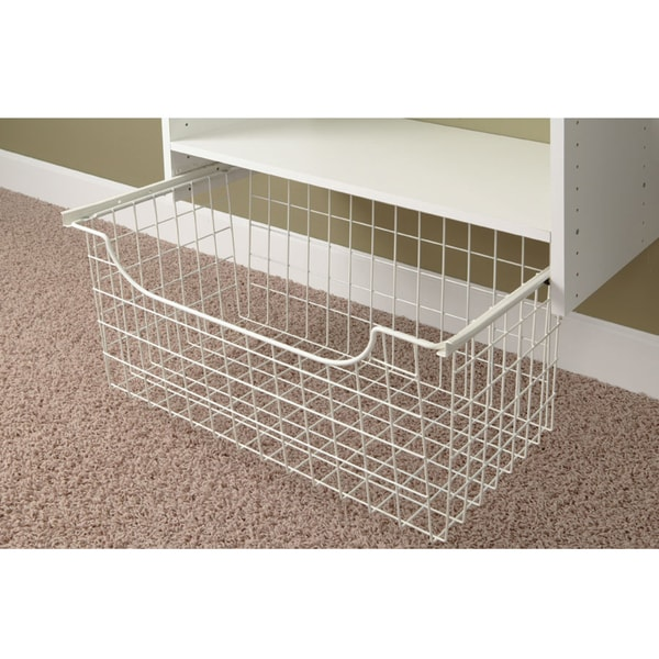 "Easy Track 1312 12"" White Easy Track Wire Basket"
