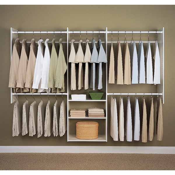 Allen Roth 8 Ft X 6 83 Antique White Wood Closet Kit Luxury Dressing Room With Lowes Anizers Systems Dark Brown Wooden Storage And