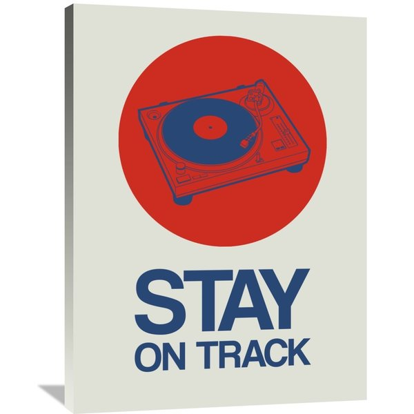 Naxart Studio 'Stay On Track Record Player 1' Stretched Canvas Wall Art