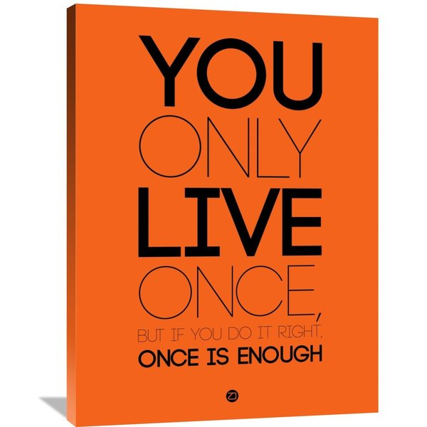 Naxart Studio 'You Only Live Once' Orange/Black Canvas Wall Art