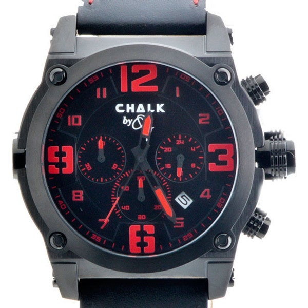 Chalk Quincy Black Stainless Steel Fashion Watch
