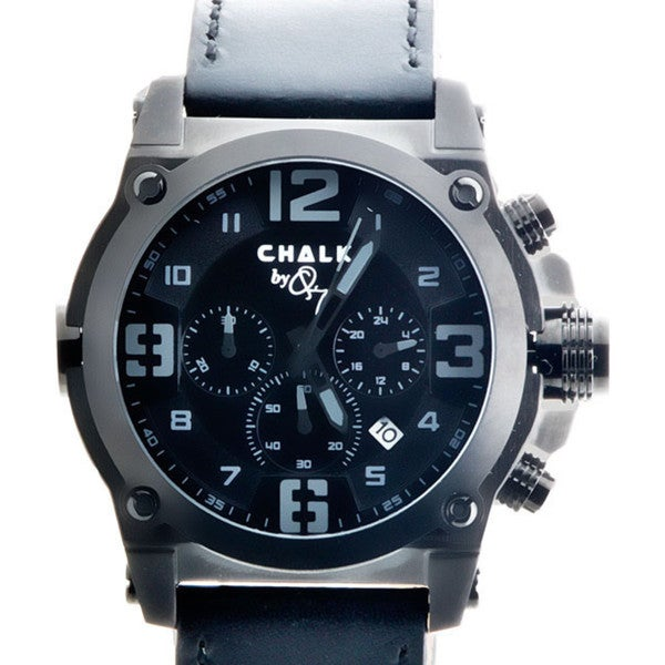 Chalk Quincy PROOF 46mm Watch Black Stainless Steel IP Case Black Dial P Diddy puff daddy