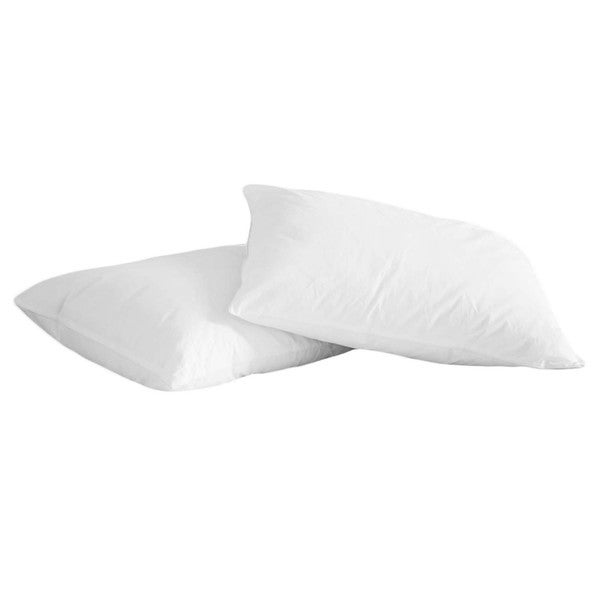 Natural Memory Foam and White Feather Jumbo Pillow (Set of 2)