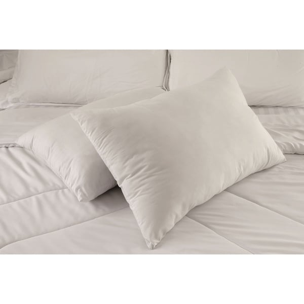 Jumbo White Nano Feather Pillow (Set of 2)