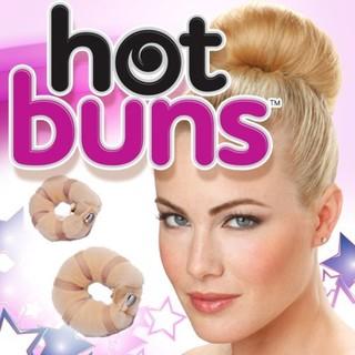Imperial Home Hot Buns Hair Light Hair Small Donut Bun Maker (Set of 2)