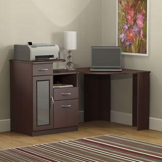 """Copper Grove Haskovo Corner Desk in Cherry - 58.62""""L x 38.43""""W x 35.39""""H"""