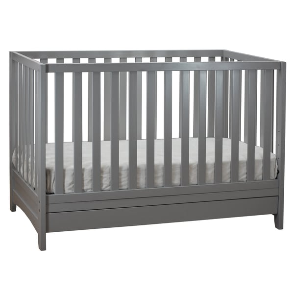 Mikaila Anita 3-in-1 Wood Convertible Crib with Toddler Rail