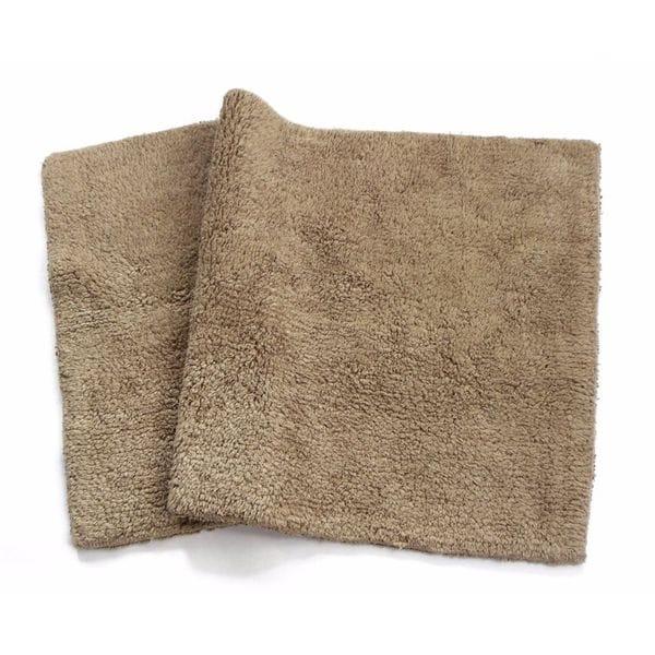 Benzara Canton Mocha Cotton Reversible Mat