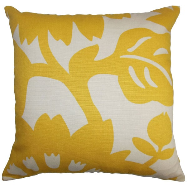 Fayre Floral Euro Sham Yellow