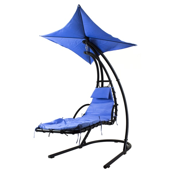 "River Cottage Gardens PH005-1 44"" X 80"" X 84"" Blue Hanging Chair"