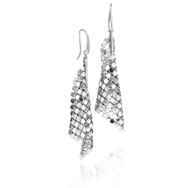 Isla Simone - Fine Silver Plated Specchio Large Cone Earring