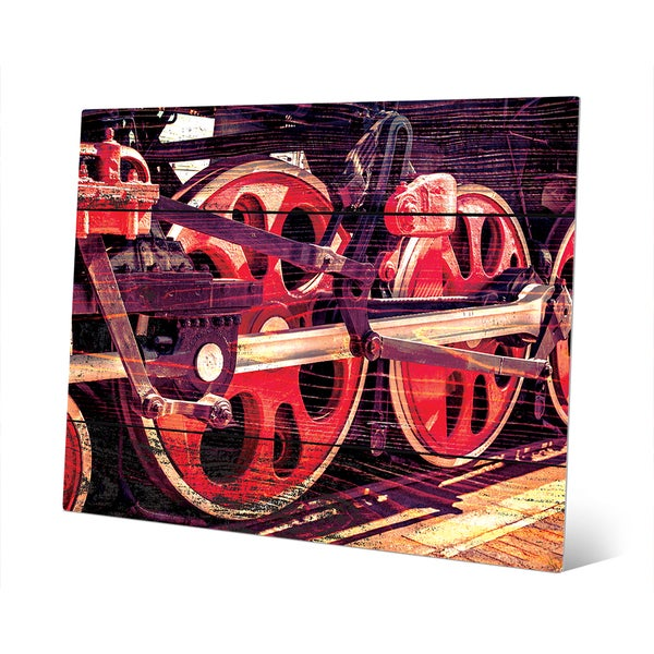 'Spinning Down the Tracks' Metal Wall Art