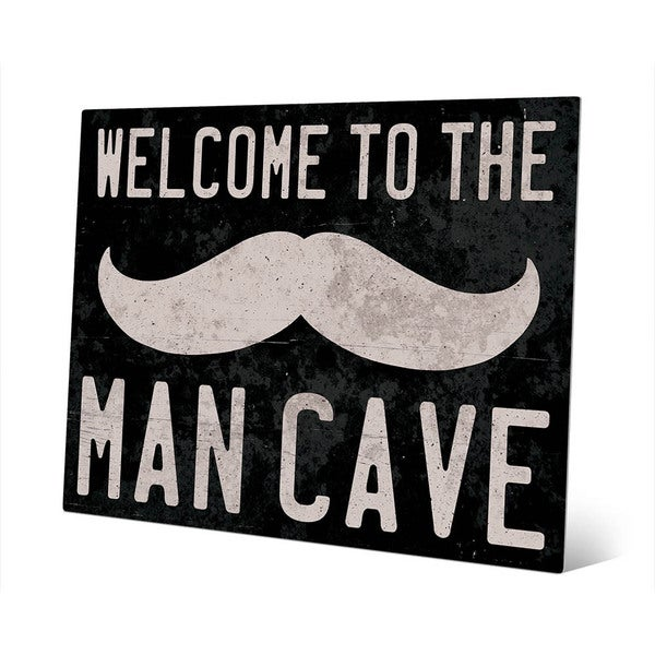 'Welcome to the Man Cave' Metal Wall Art