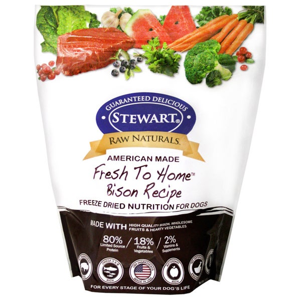 Raw Naturals Bison Recipe Freezer Dried Dog Food