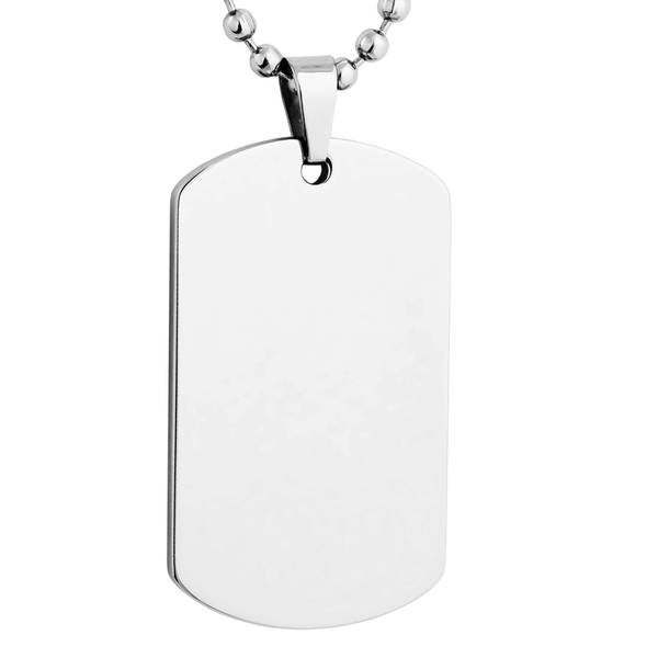 Mens Stainless Steel Dog Tag