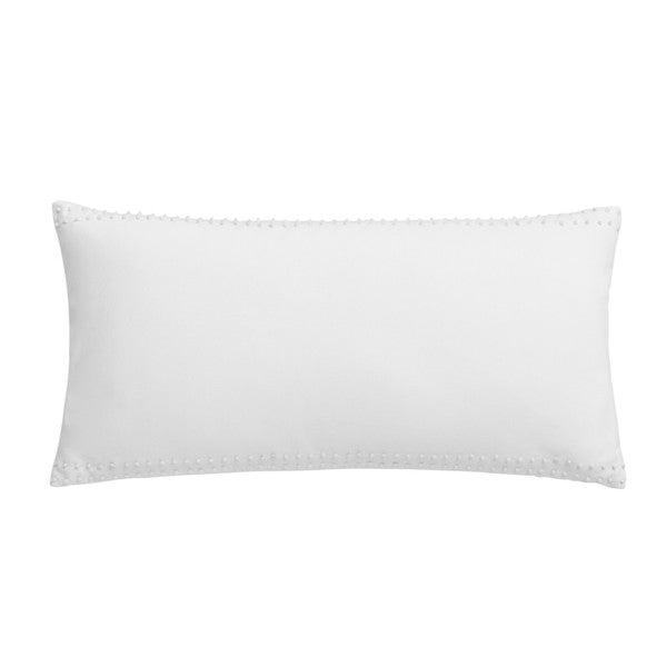 Jill Rosenwald Blackpoint Hex Breakfast White French Knot Decorative Pillow
