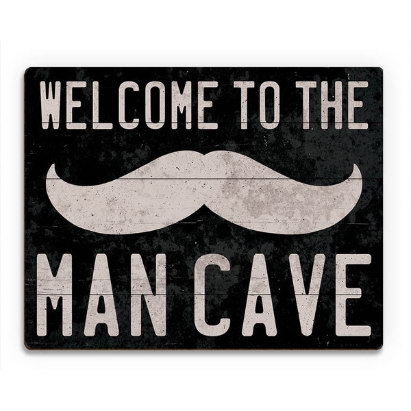 'Welcome to the Man Cave' Wood Wall Art