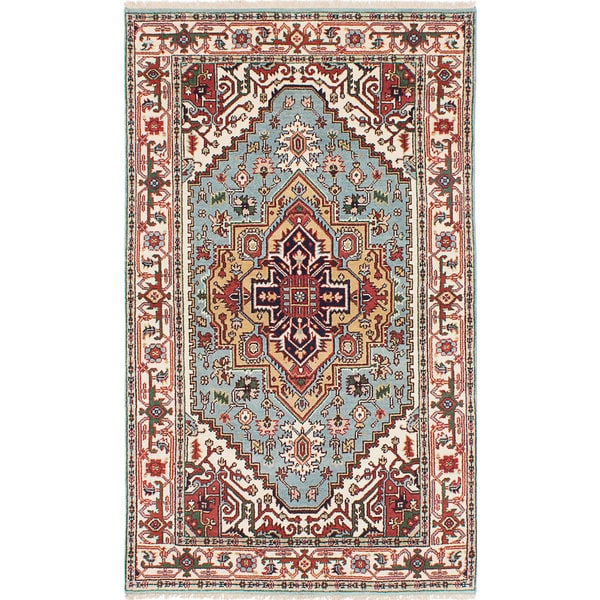 eCarpetGallery Serapi Heritage Blue Wool Hand-knotted Rug (4'8 x 8'0) 21295435