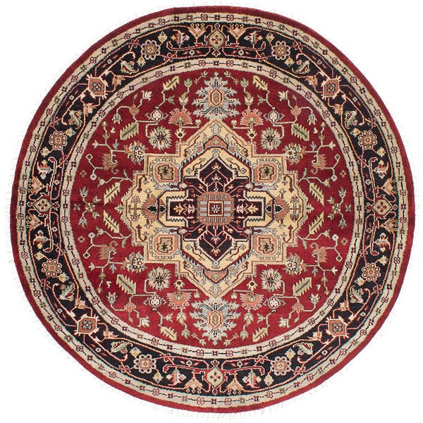 eCarpetGallery Red Wool Hand-knotted Serapi Heritage Rug (7'11 x 7'11) 21295463
