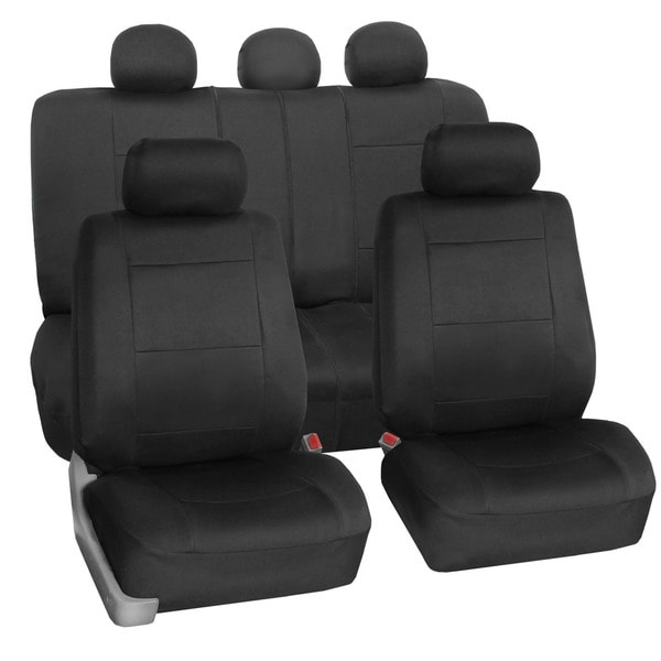 FH Group Neoprene Water Resistent Seat Covers Black (Full Set)