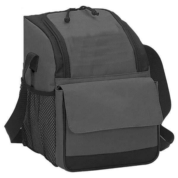 Preferred Nation Black/Grey Polyester Triangular Cooler Lunch Bag