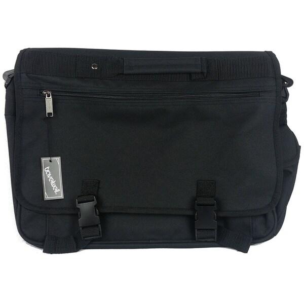 Goodhope Black Polyester Messenger Bag