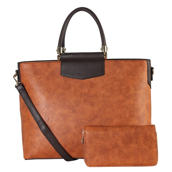 Diophy Faux-leather Bag-in-bag Tote Bag with Wallet