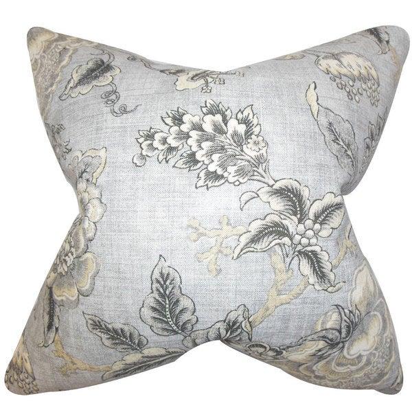 Immy Floral Euro Sham Gray