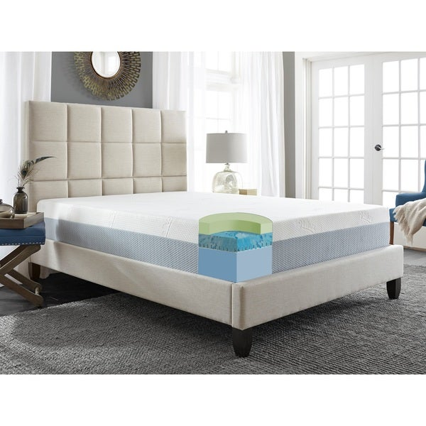 Sleep Sync 12-inch TXL-size Memory Foam Synthetic Gel Latex Mattress