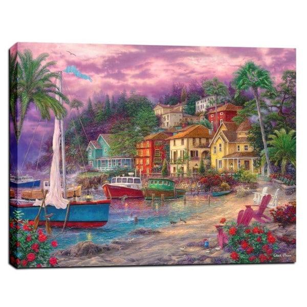 Chuck Pinson 'On Golden Shores' Giclee Canvas Wall Art 21297423