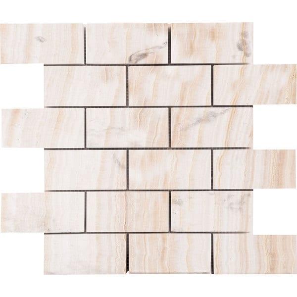 Vanilla Onyx Beige Marble 2-inch x 4-inch x 3/8-inch Polished Mosaic Tiles