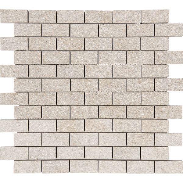 Salem Grey Tumbled Marble Mosaic Tile