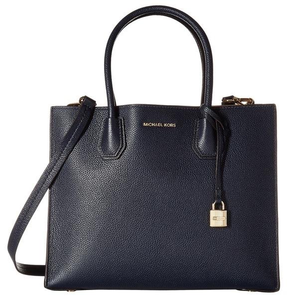 Michael Kors Convertible Mercer Admiral Blue Tote Bag